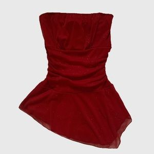 Y2K Strapless Top